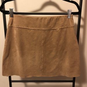 Free People Skirts - Free People Liberty Garden Faux Suede Mini Skirt